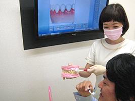 歯みがき指導の様子